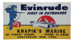 Evinrude Tin Sign