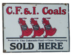 CF & I (Colorado Fuel and Iron) Coal Sign