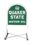Quaker State Tombstone Sign and Base