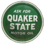 Quaker State Domed Sign
