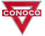 Red Conoco Triangle Sign