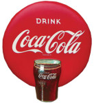 Drink Coca-Cola Button Sign