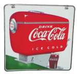 Coca-Cola Soda Dispenser Sign