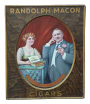 Randolph Macon Cigars Tin Sign