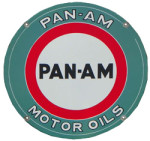 Pan-Am Motor Oils Sign