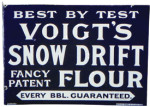 Voigt's Snow Drift Flour Sign