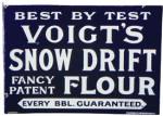 Voigt's Snow Drift Flour Sign
