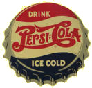 Pepsi-Cola Die-Cut Sign