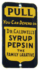 Dr Caldwell's Syrup Pepsin Door Push