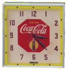 Coca-Cola Square Clock
