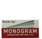 Monogram Motor Oil Sign