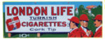 London Life Turkish Cigarettes Sign