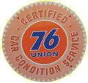 Union 76 Service Sign