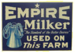 Empire Milker Farm Sign