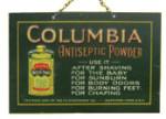 Columbia Antiseptic Powder Sign