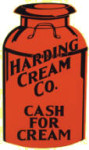 Harding Cream Co Sign