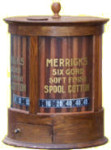 Merrick's Cotton Thread Display