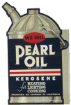 Pearl Oil Kerosene Can Sign