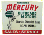 Mercury Outboard Motors Dealer Sign