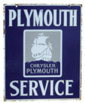 Chrysler Plymouth Service Sign