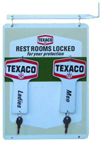 Bathroom Key Sign texaco service station bathroom keys | antique advertising value