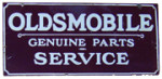Oldsmobile Parts and Service Sign