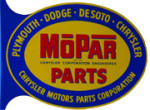 Mopar Parts Flange Sign