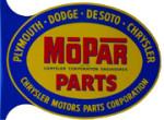 Mopar Parts Flange Sign