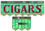 Cigars Stained Glass Trade Sign