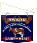 Dairy of Merit Sign
