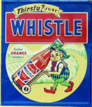 Whistle Orange Soda Sign