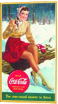 Coca-Cola Winter Scene Sign