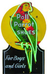 Neon Poll Parrot Shoes Sign