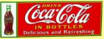 Drink Coca-Cola in Bottles Sign