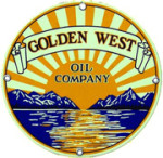 Golden West Oil Company Sign
