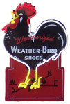 Neon Weather-Bird Shoe Sign