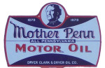 Mother Penn Motor Oil Sign