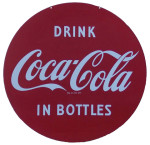 Drink Coca-Cola Round Sign