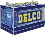Delco Yellow Cap Battery Sign