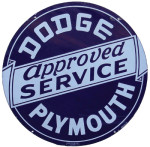 Dodge Plymouth Service Station Sign
