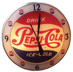 Lighted Pepsi-Cola Clock