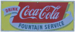 Drink Coca-Cola Fountain Service Sign