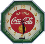 Coca-Cola Octogon Clock