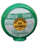 Green Dixie Vim Gas Globe