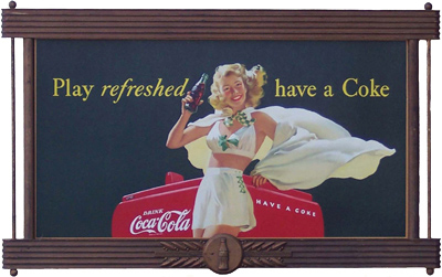 Play Refreshed Have A Coke Sign Antique Advertising