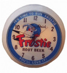 Frostie Root Beer Lighted Clock