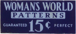 Woman's World Patterns Sign