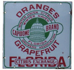 Florida Citrus Exchange Sign