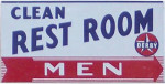 Derby Men's Rest Room Sign