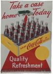 Coca-Cola Take A Case Home Today Sign